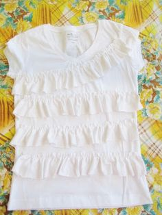 Alice Ruffled Top, Sewing for Girls , T- shirt Refashion, Back to School Free Sewing Pattern