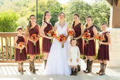 LOVE this Bride Tribe in maroon   {photo: Limelight San Antonio}