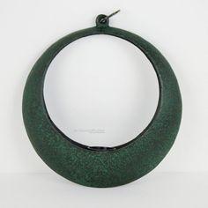 www.PaulasLoft.com Mid Century Japanese Ikebana Vase Hanging Moon Iron Mangetsu Planter Japan  #PaulasLoft #MidCentury #Japanese #IkebanaVase #HangingMoon #Iron #Mangetsu #Planter #Japan