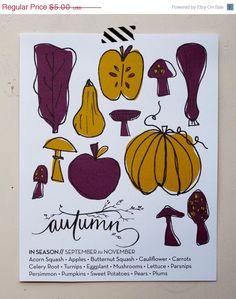 Autumn // What Produce Is In Season 8x10 Original Print