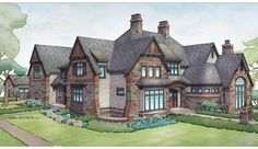 ePlans Tudor House Plan – Handsome Tudor With Expansive Layout  – 7398 Square Feet and 5 Bedrooms from ePlans – House Plan Code HWEPL77023