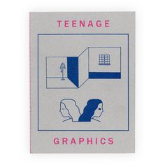 * SHIPS ON DEC 12 *    28 page, 2 color risograph zine with embossed cover.     TEENAGE GRAPHICS is a collection standalone images possibly with an overriding theme but possibly without. All of the images were created in silence between this year and last year.    Edition of 260      Saddle stitc...