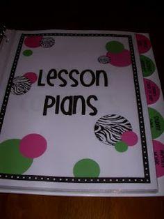 Organization binder for teacher