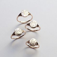Love the idea of my initial and a special someone's initials on the same ring!