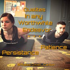 """Thought For The Day @PilatesDwell_Canton   """"PATIENCE and PERSISTENCE are vital qualities in the ultimate successful accomplishment of any worthwhile endeavor."""" #sosaysJosephPilates #yougottoWERK #bepersistent #bepatient #itsaprocess #feelinginspired • #pilates #pilatesstudio #pilatesinstructor #pilatesformen #pilatesforwomen #contrology #classicalpilates #calisthenics #gymnastics #fitness #yoga #personaltrainer #menshealth #homestudio Pilates Instructor, Pilates Studio, Pilates For Men, Calisthenics, Personal Trainer, Patience, Gymnastics, Success, Yoga"""