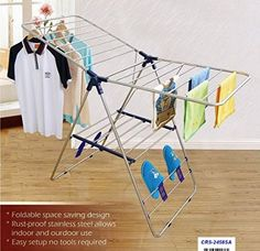 CRESNEL Heavy Duty Stainless Steel Clothes Drying Rack - Rust-proof Guarantee - Premium Quality