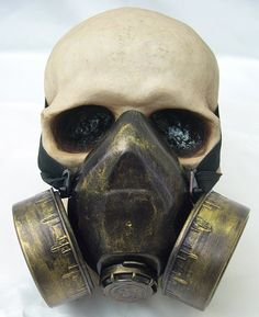 Jade Green Distressed Steampunk Gas Mask