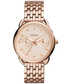Fossil Women's Tailor Rose Gold-Tone Stainless Steel Bracelet Watch 35mm ES3713 - Watches - Jewelry & Watches - Macy's