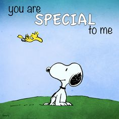 SNOOPY WOODSTOCK~YOU ARE SPECIAL TO ME | see more cartoon pics at www.fabuloussavers.com/wcartoons.shtml