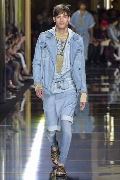 Balmain Men's Spring 2017 [Photo: Giovanni Giannoni]