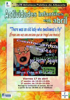 #actividadesbiblioteca Cuentacuentos en inglés con Hester Square. Viernes, 17 de abril, dos sesiones (18 y 19 horas).