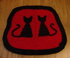 Two Kitty Rug by recyclingartistemily, via Flickr