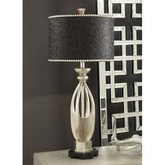 """Crestview Collection Summit Carlton 34.5"""" H Table Lamp with Drum Shade"""