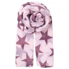 Becksondergaard Fine Twilight Scarf - Hawthorn Rose (280 SEK) ❤ liked on Polyvore featuring accessories, scarves, hawthorn rose, cotton shawl, cotton scarves and star scarves