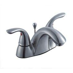 Glacier Bay - 1000 Series 4 Inch Bath Faucet - Brushed Nickel ...