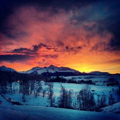 Telluride Sunset by mmusgjerd.deviantart.com on @deviantART