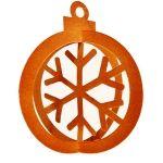 3d christmas ornament-snowflake