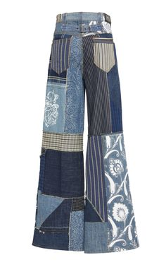 Shop Patchwork-Effect High-Rise Wide-Leg Jeans. Etro's jeans are designed with a flared, wide-leg fit and patchwork detailing construction. Custom Clothes, Diy Clothes, 70s Fashion, Fashion Outfits, Cool Outfits, Casual Outfits, Jeans Denim, Mode Inspiration, Aesthetic Clothes
