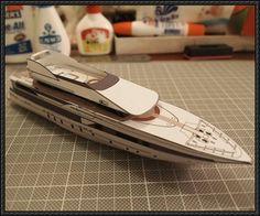 NQEA Yacht Paper Model Free Template Download - http://www.papercraftsquare.com/nqea-yacht-paper-model-free-template-download.html