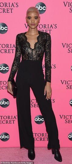 fd7ef381f549 Winnie Harlow and fellow angels dazzle in black at VS viewing party