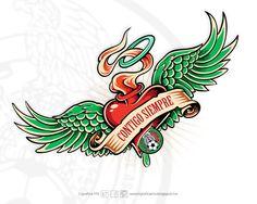 @Selección Mexicana #ContigoSiempre #LigraficaMX #DiseñoYFútbol #Tattoo