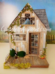 Butterfly Cottage Custom Furnished  Dollhouse by cinderellamoments, $599.00