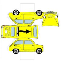 Paper Car Cutouts | Recortable Vehículo Servicio en Pista Ejército del Aire (600 ...