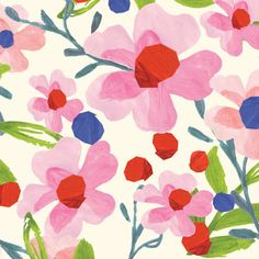 print & pattern . beautiful watercolour floral . lovely & bright & colourful .