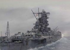IJN BB Yamato 350 Tamiya (modelshipgallery) 7.30.15 Thu