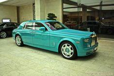 Turquoise Rolls Royce Phantom