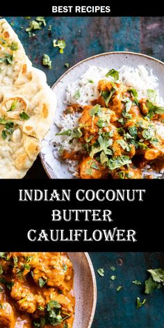 ★★★★★ 54987 #INDIAN #COCONUT #BUTTER #CAULIFLOWER Risotto Recipes, Easy Soup Recipes, Best Dinner Recipes, New Recipes, Yummy Recipes, Dessert Recipes, Healthy Recipes, Best Chicken Recipes, Salmon Recipes