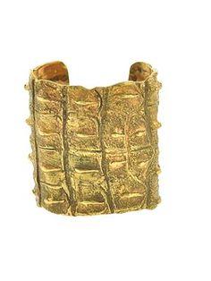 Textured Gold Plated Cuff power goddess bracelet!