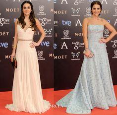 Goya Cinema Awards 2014 - Macarena Garcia in Roberto Cavalli and Paula Echevarria in Dolores Promesas