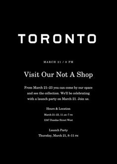 RSVP for the Launch Party here: everlane.com/toronto-popup
