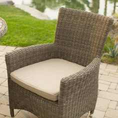 Belham Living Bella All Weather Wicker Patio Dining Chair - Set of 2 - Outdoor Dining Chairs at Hayneedle
