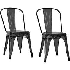 Dining Chairs Set of 2 Modern Furniture Metal Mesh White Black living room patio #DHP #Modern
