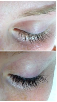 Bellezza Spa's before and after transformation of eyelash tinting
