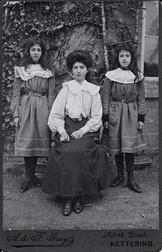 Pretty Edwardian Sisters with their Mother | Flickr - Photo Sharing!