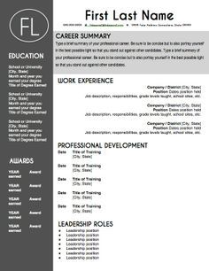 find this pin and more on resumes teacher resume template - Teacher Resumes Templates Free