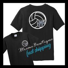 Monogram Volleyball Shirt, Volleyball Monogram Shirt, Volleyball Shirt,  Volleyball Mom Shirt, Personalized