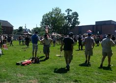 The Ottawa Brewery Market, July 5, 2014 - teaching the masses. Turnout was fantastic on a hot, summer day. #kubb on! \m/