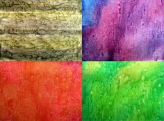Free Fabric Painting Tutorials - Layer It, Mottle It, Salt It, Scrunch It