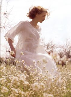 delicate-reminds me of the woman who walks about in white morning dresses section of Aurora Leigh