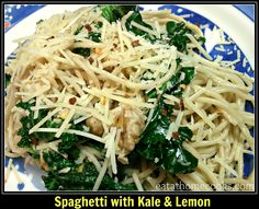 Spaghetti with Kale and Lemon - Eat at Home