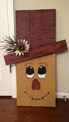 Items similar to Reversible Pallet for Scarecrow / Snowman on EtsyReversible pallet board for scarecrows / snowmen by Cobbygoose on Fall Reverses to Snowman Fall Wood Crafts, Halloween Wood Crafts, Scarecrow Crafts, Christmas Wood Crafts, Autumn Crafts, Pallet Crafts, Wooden Crafts, Thanksgiving Crafts, Christmas Projects