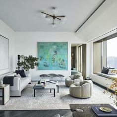 Design that's barely there: #luxurylivingroom #livingroomideas #trends New Interior Design, Best Interior, Interior Design Inspiration, Interior And Exterior, Norman Foster, Custom Headboard, Elle Decor, Interiores Design, Interior Architecture