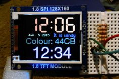 Arduino TFT Display and Font Library - Electronics - Hobby Electronics, Electronics Projects, Digital Technology, New Technology, Arduino Lcd, Arduino Circuit, Arduino Programming, Arduino Display, Computing Display