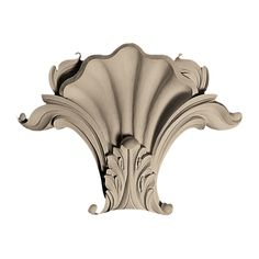 """Pearlworks KS-105A Approx. 9-3/4"""" x 6-3/4"""" x 3"""" Shell with acanthus leaf. Use with MLD-182 &MLD-183. - ArchitecturalDepot.com"""
