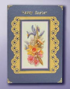 Card Making Project Floral Spray Easter Card