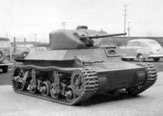 An experimental prototype of the Light Tank T9, April 1942. The driver received a pair of machineguns so he wouldn't be bored.